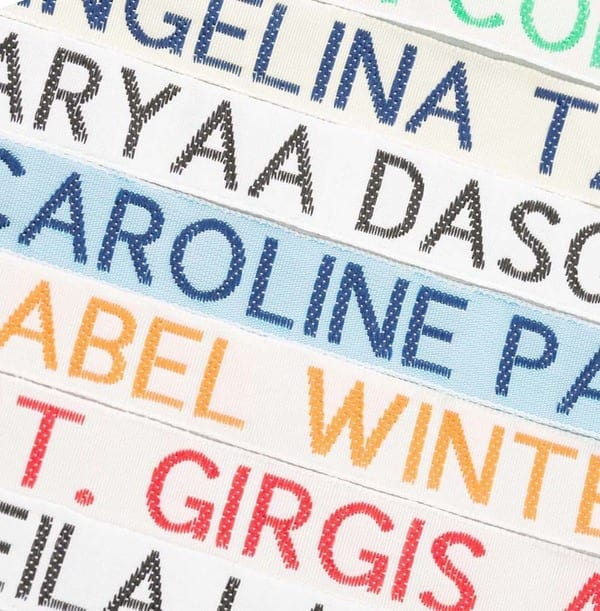 Woven Sew in Name Tags