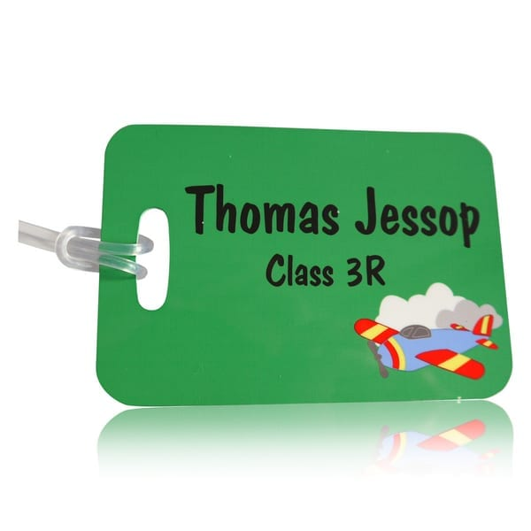 Personalised Bag Tag - Plane