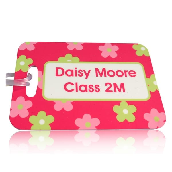 Personalised luggage tags id bands