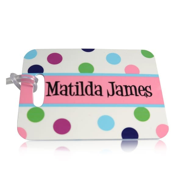Personalised kids bag tag