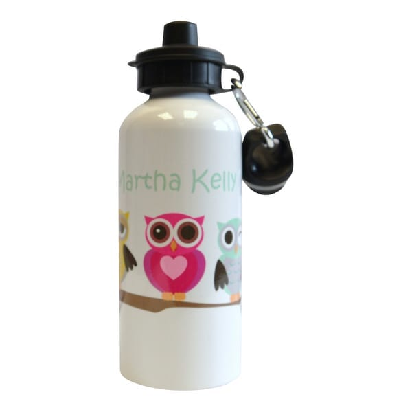 personalised drink bottle owl design
