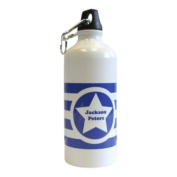 Water Bottle Name Tags: Striped Kids Water Bottle