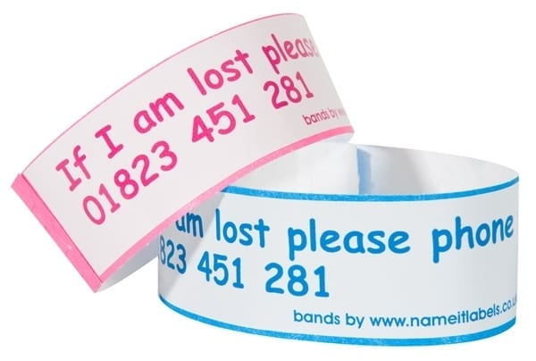 Personalised ID Wrist Bands