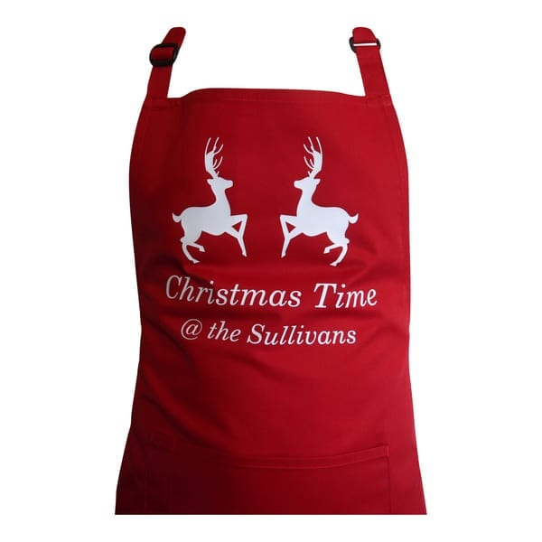 Personalised Christmas Time Apron