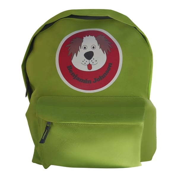 Personalised Back Pack - Dog Design
