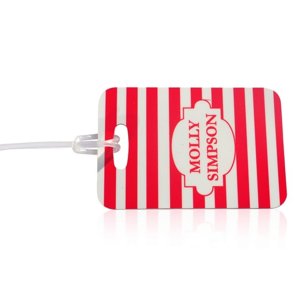 Personalised Bag Tag - Stripes