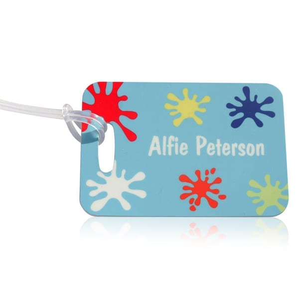 Personalised Bag Tag- Splat Design