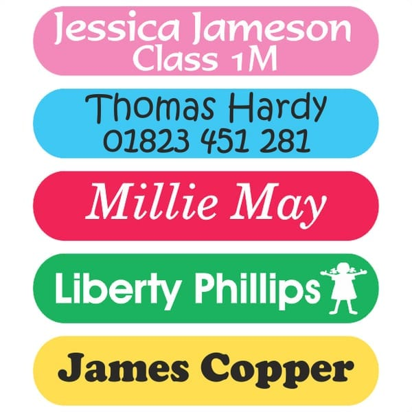 small name labels