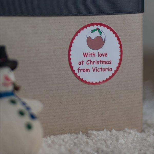 Personalised Christmas Gift Stickers - Pudding