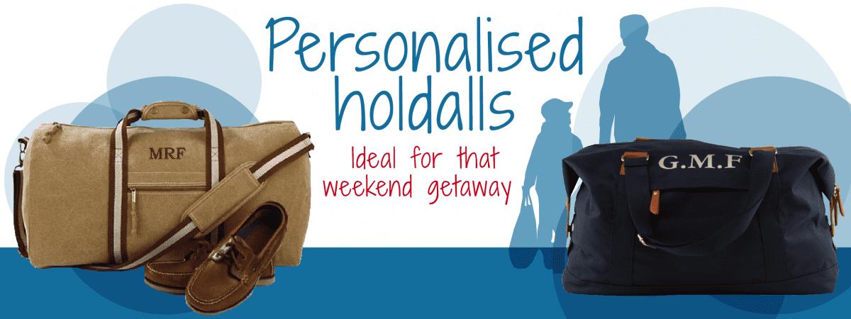 personalised holdalls