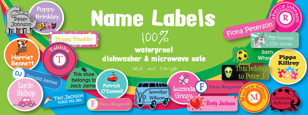 Personalised name labels kids name tags name it labels for Clothing identification labels