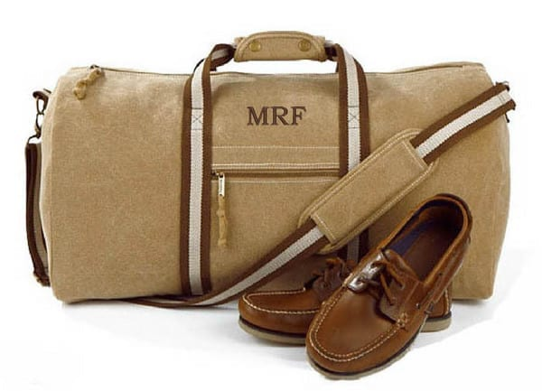 personalised holdall bag