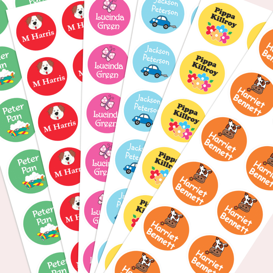 round name labels