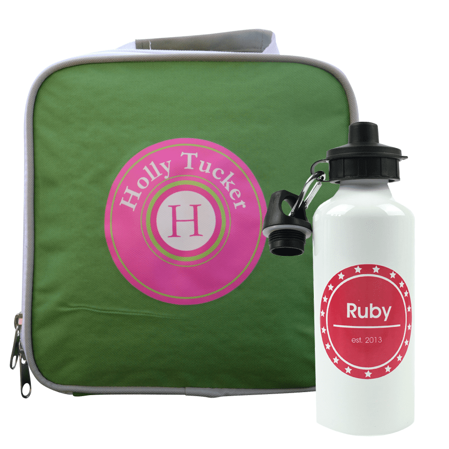 Personalised Lunch Bags & Water Bottles