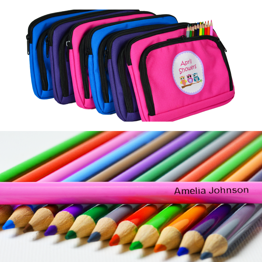 Personalised Pencils and Pencil Cases
