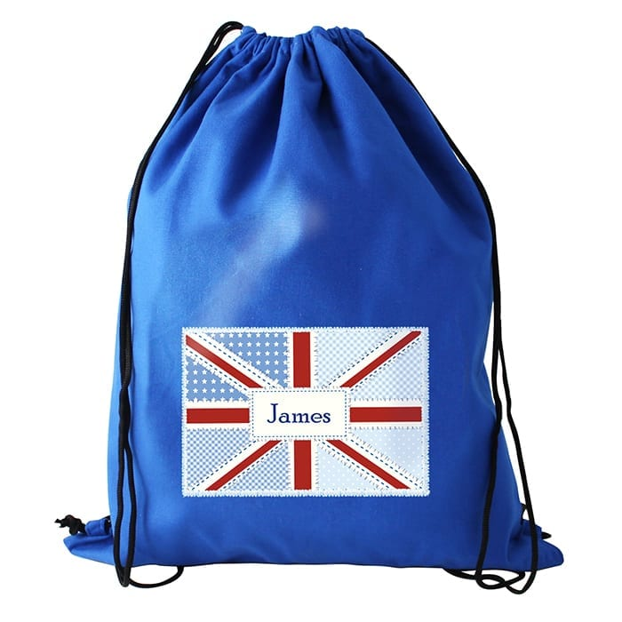 Union Jack Personalised Gym Sack