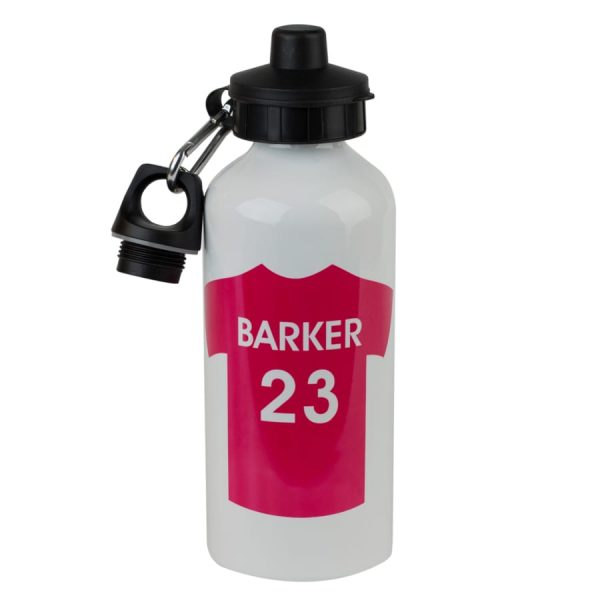 personalised football water bottle