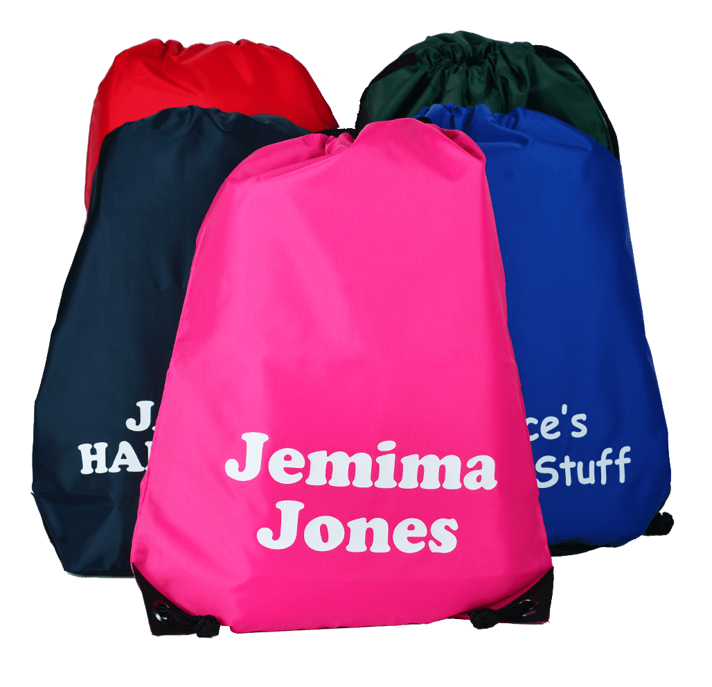 personalised school gym bag