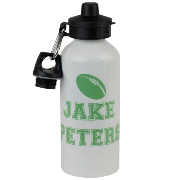 personalised rugby sports bottle
