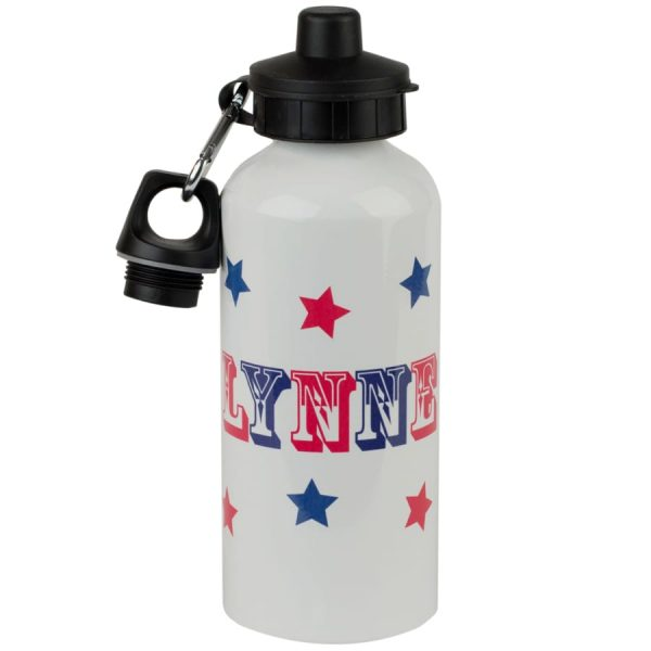 personalised stars water bottle