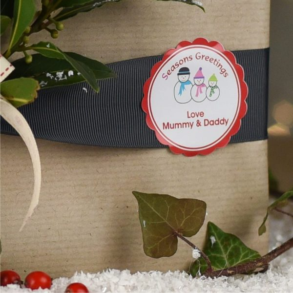 Personalised Christmas Gift Labels - Snowman