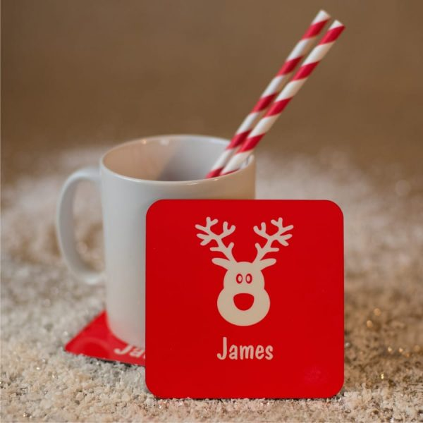 Personalised Christmas Coasters