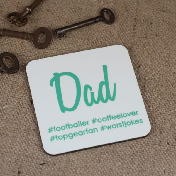 Personalised Hash Tag Coaster