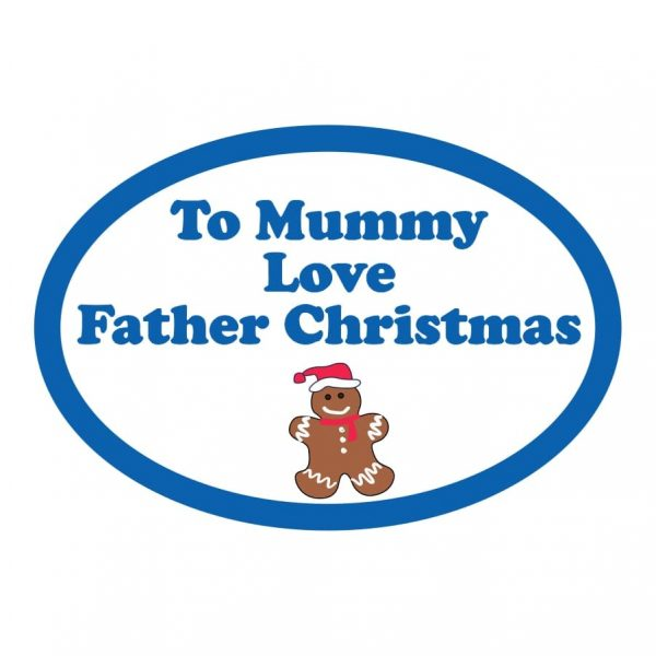 Secret gingerbread christmas gift sticker