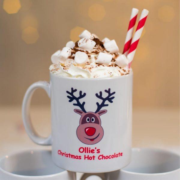 Personalised Reindeer Mug
