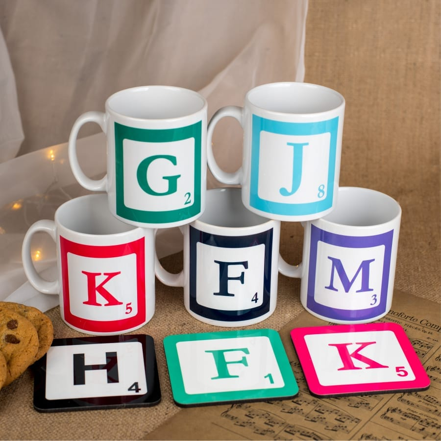 Personalised Initial Mug & Coaster