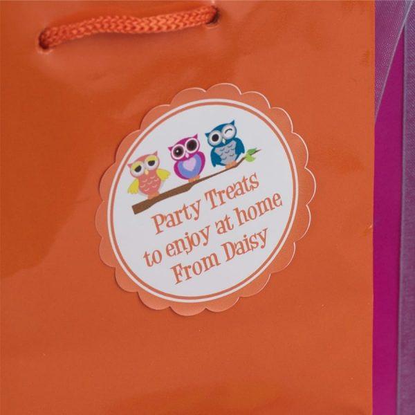 Owl Gift Label