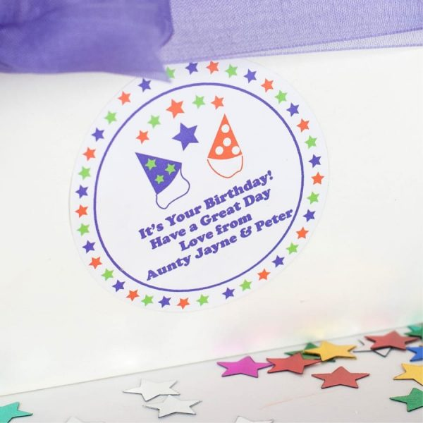 Party Hat Gift Label