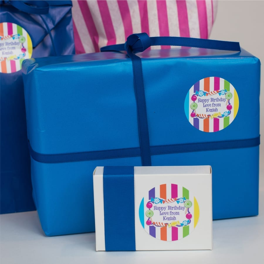 Candy Striped Gift Label
