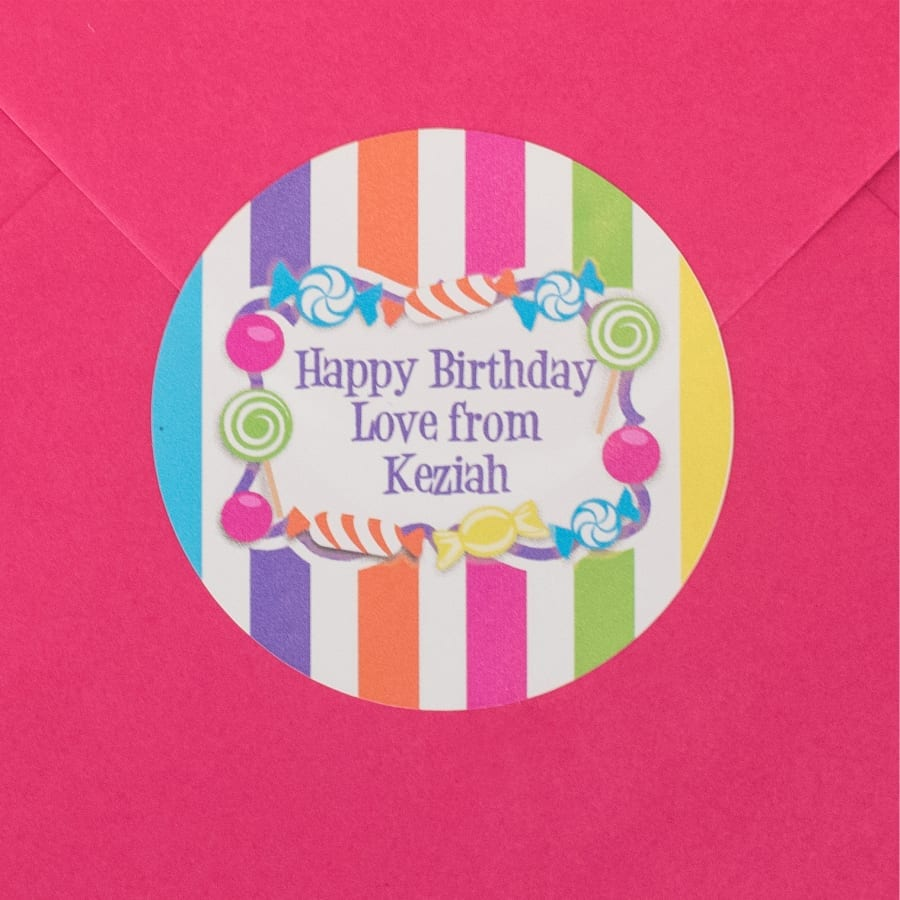 Candy Striped as Gift Card Seal