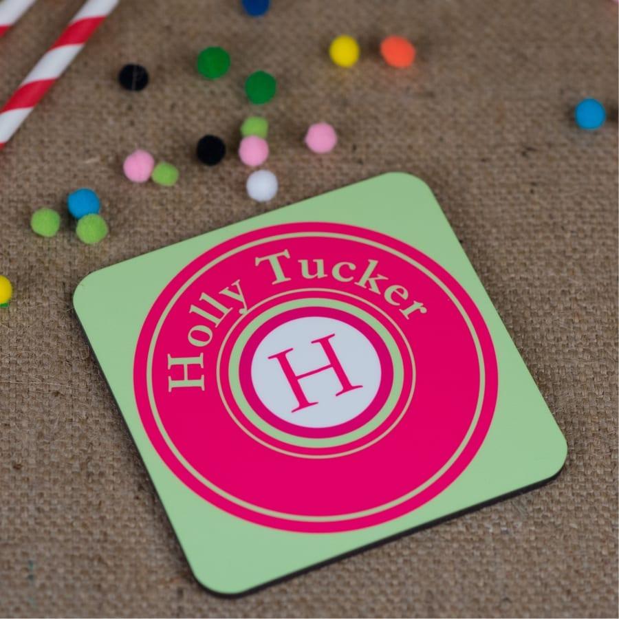 Personalised Monogram Coaster