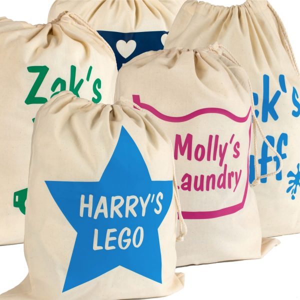 Personalised Cotton Stuff Bags