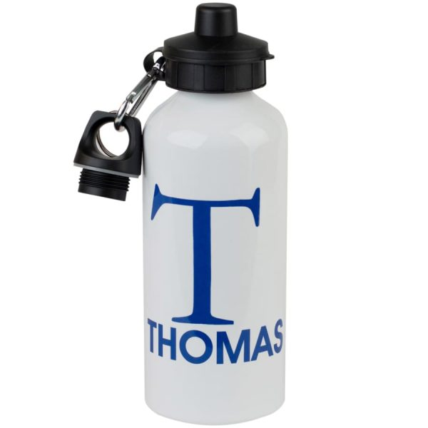 personalised initial name water bottle