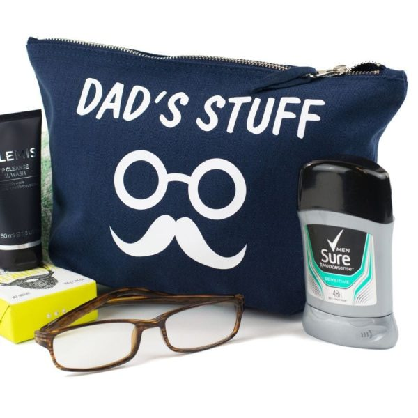 personalised male grooming pouch