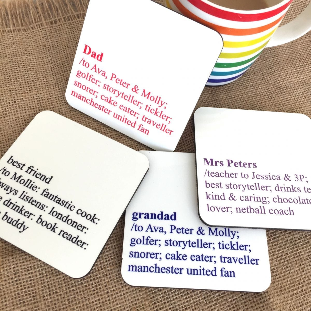 Personalised Definition Coaster