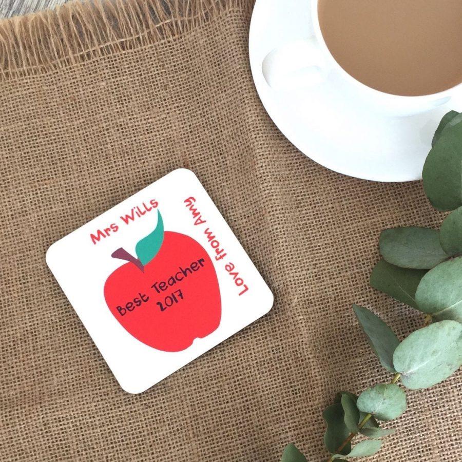 Personalised Best Teacher Coaster