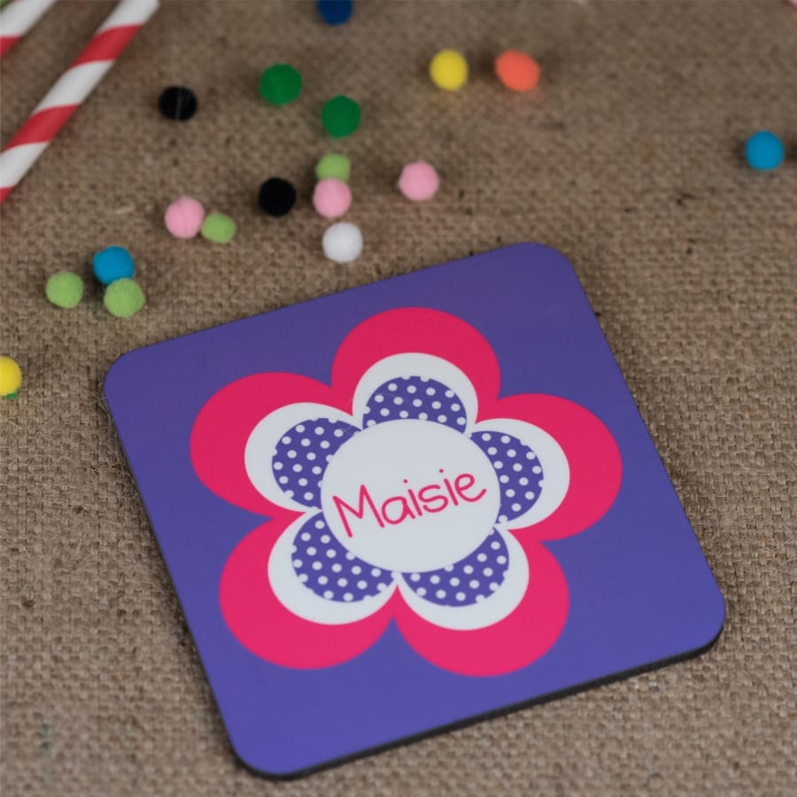 Personalised Flower Coaster