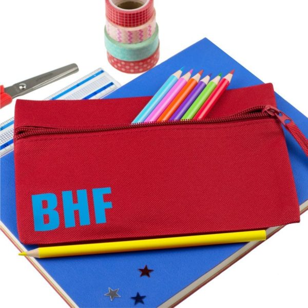 personalised initial pencil case