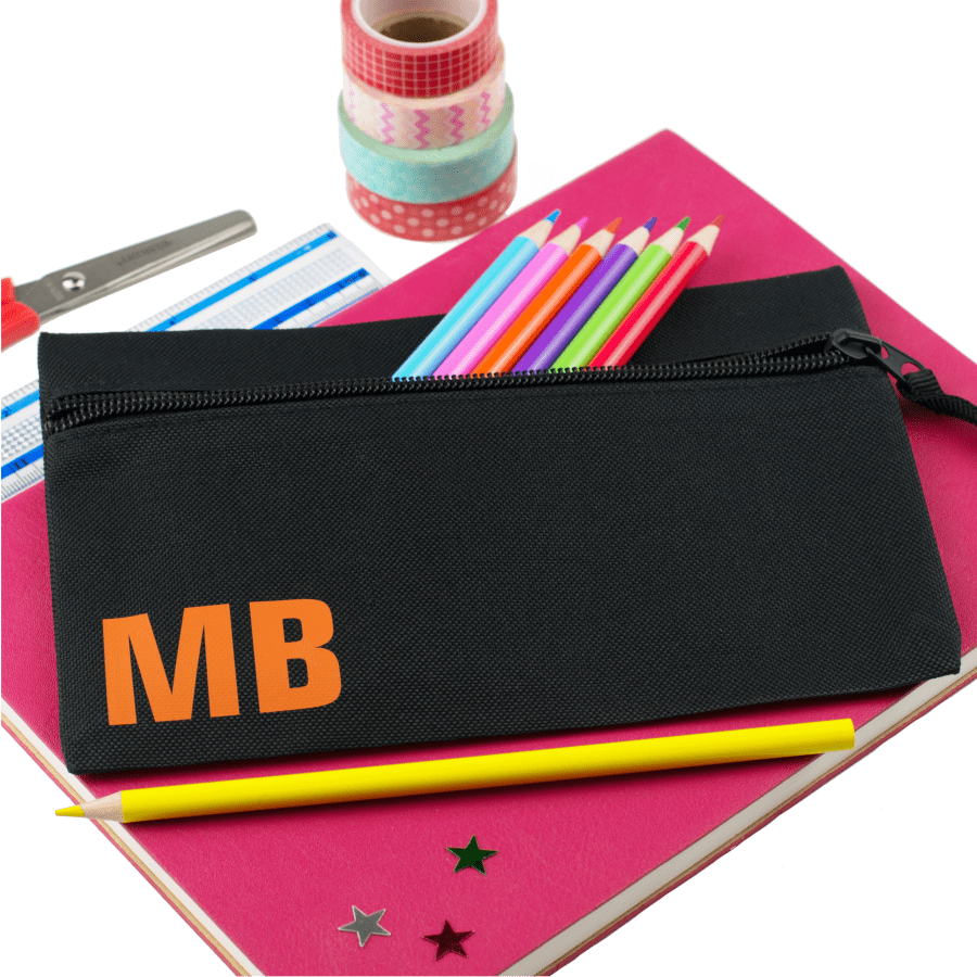 personalised pencil case with initials