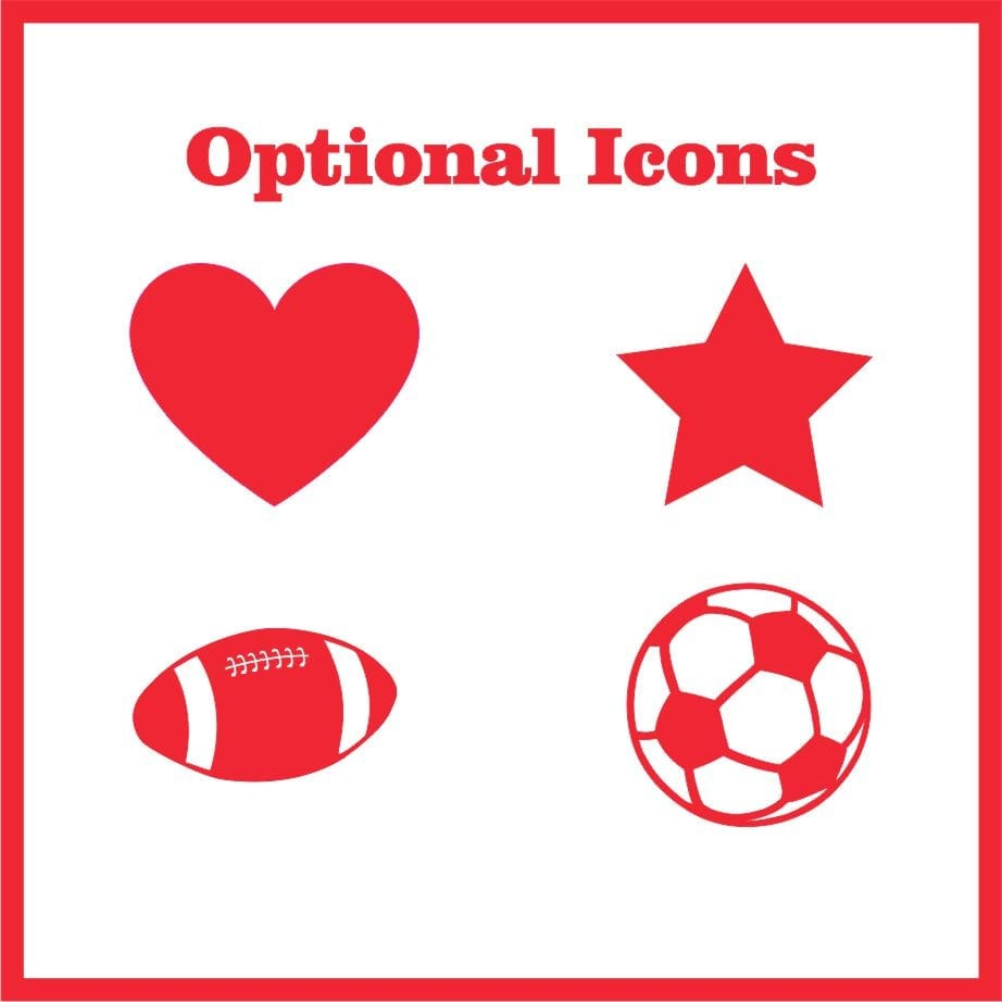 Optional Icon Chart