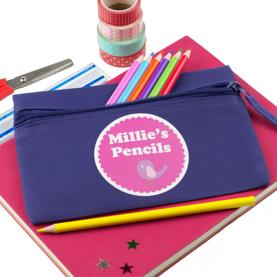 Personalised Bird Pencil Case