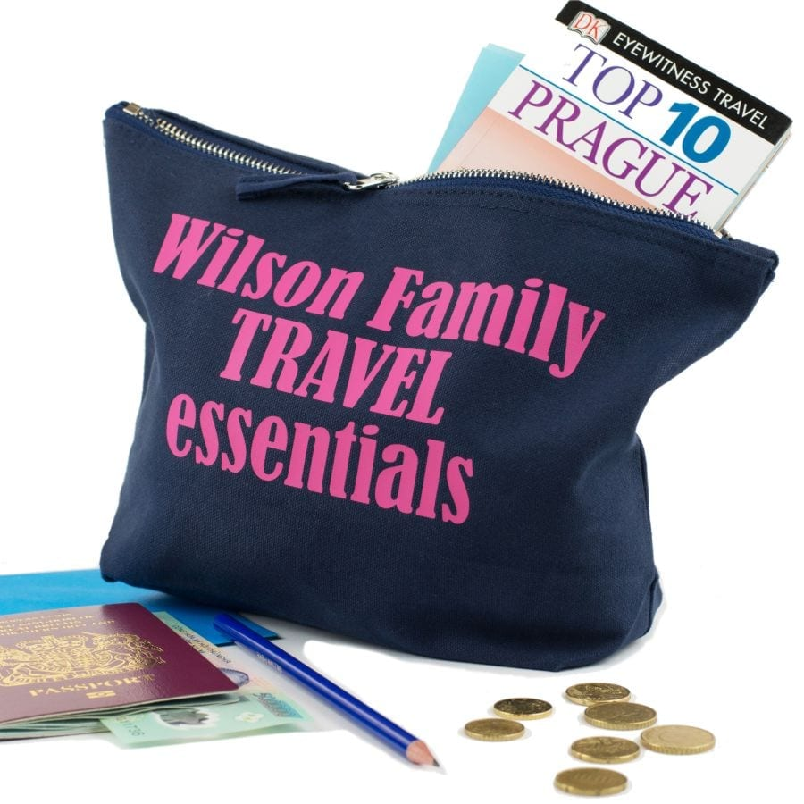 Personalised Travel Document Pouch