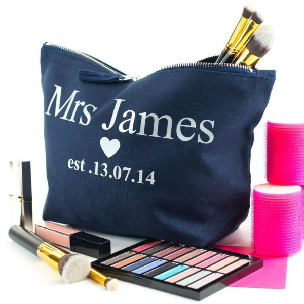 personalised bridal cosmetic pouch