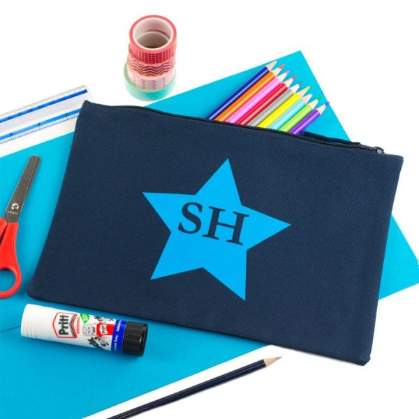 large star initial pencil case