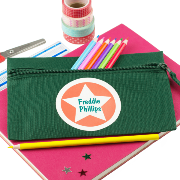 Personalised Star Circle Pencil Case