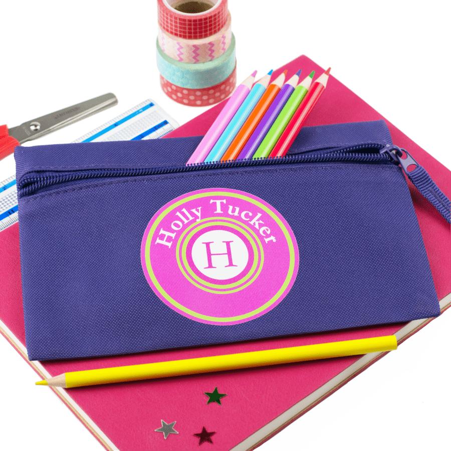 personalised monogram pencil case